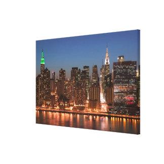 USA, New York, New York City, Manhattan: Aerial Canvas Print