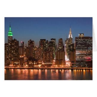 USA, New York, New York City, Manhattan: Aerial Greeting Card