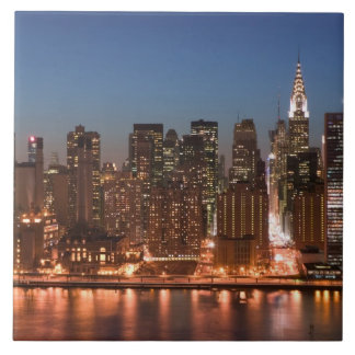 USA, New York, New York City, Manhattan: Aerial Large Square Tile