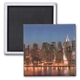 USA, New York, New York City, Manhattan: Aerial Square Magnet
