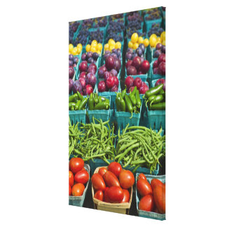 USA, New York State, New York, Vegetables and Canvas Print