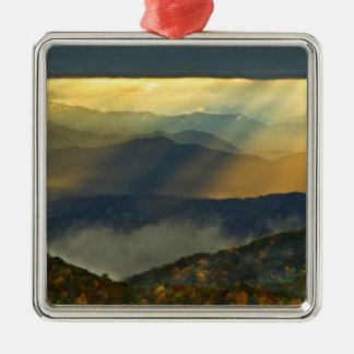 USA, North Carolina, Great Smoky Mountains. Silver-Colored Square Decoration