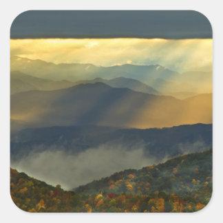 USA, North Carolina, Great Smoky Mountains. Square Sticker