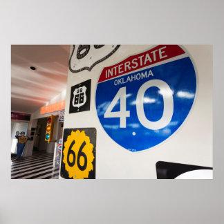 USA, Oklahoma, Clinton, Route 66 Museum Poster