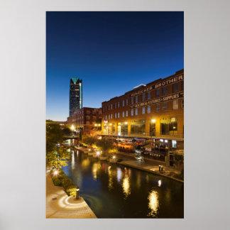 USA, Oklahoma, Oklahoma City, Bricktown Poster