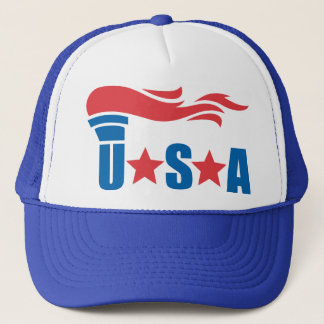 USA Olympic Torch Sports Hat