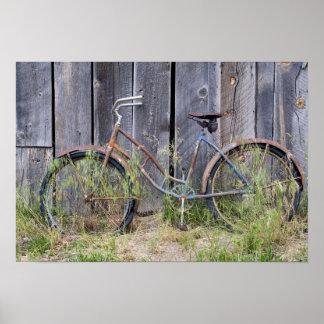USA, Oregon, Bend. A dilapidated old bike Poster
