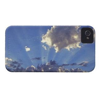 USA, Oregon, Bend. Sun rays fill the sky near Case-Mate iPhone 4 Cases