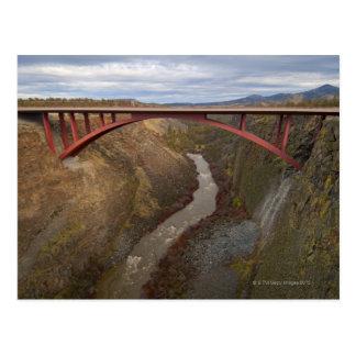 USA, Oregon, Bridge crossing Crooked River Postcard