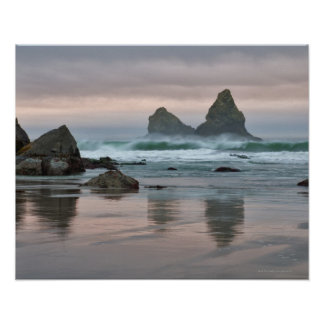 USA, Oregon, Bullards Beach Poster