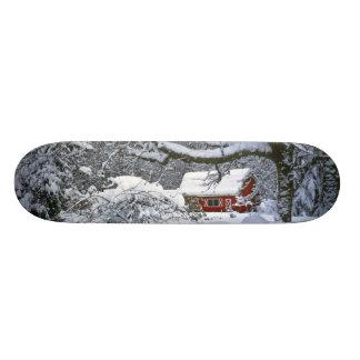 USA, Oregon, Clackamas County. Fresh snow 19.7 Cm Skateboard Deck