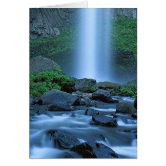 USA, Oregon, Columbia Gorge, Latourell Falls Card