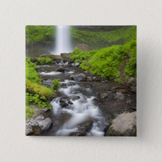 USA, Oregon, Columbia River Gorge, Latourell 15 Cm Square Badge