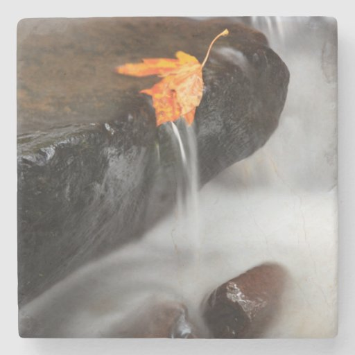 USA, Oregon, Columbia River Gorge, Tanner Creek 3 Stone Beverage Coaster