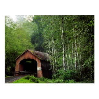 USA, Oregon. Covered Bridge Over North Fork Postcard