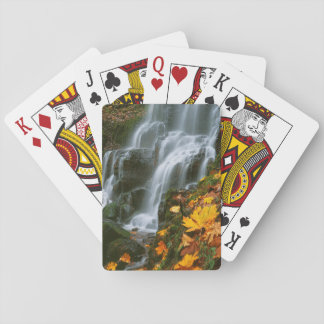 USA, Oregon, Fairy Falls, Columbia River Gorge Poker Deck