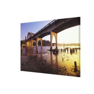 USA, Oregon, Florence. Siuslaw Bridge and Canvas Prints