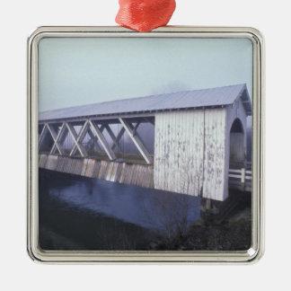 USA, Oregon. Gilkey covered bridge spans Metal Ornament