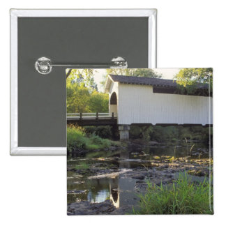 USA Oregon Harris covered bridge over Marys Pinback Buttons