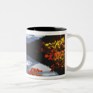 USA, Oregon, Mt. Hood National Forest. Two-Tone Coffee Mug