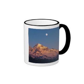 USA, Oregon, Mt Hood. Sunset creates alpenglow Ringer Mug