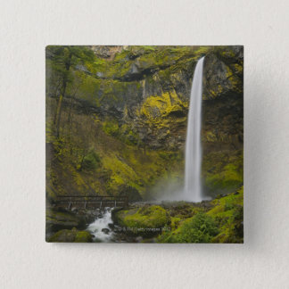 USA, Oregon, Multnomah County, Elowah Falls 15 Cm Square Badge