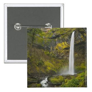 USA, Oregon, Multnomah County, Elowah Falls 15 Cm Square Badge