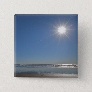 USA, Oregon, Pacific City, sun and beach 15 Cm Square Badge