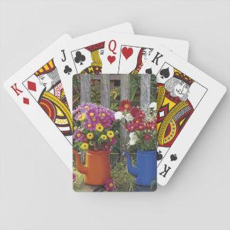 USA, Oregon, Portland. Antique enamelware Card Deck