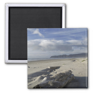 USA, Oregon, Sand Dunes and Ocean, Pacific City 2 Square Magnet