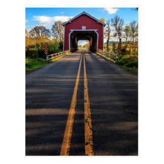 USA, Oregon, Scio, Shimanek Bridge 2 Postcard