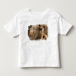 USA, Oregon, Seneca, Ponderosa Ranch. A puppy Tshirt