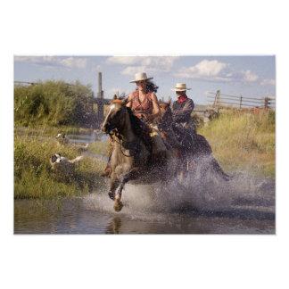 USA Oregon Seneca Ponderosa Ranch Cowboy 2 Photo Print