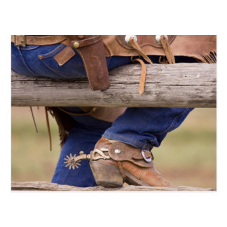 USA, Oregon, Seneca, Ponderosa Ranch. Cowboy Postcard