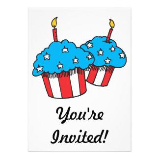 USA patriotic cupcakes Custom Announcements