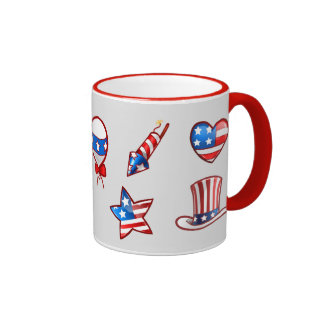 USA Patriotic Design 4th of July Gift Mugs
