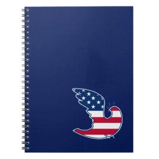 USA Patriotic Design Gift Notebooks