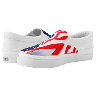 USA Patriotic Flag Slip-on Sneakers