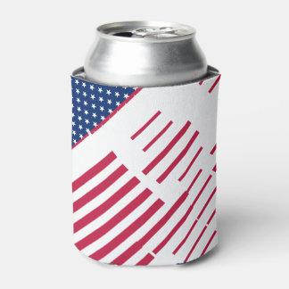 USA Patriotic Flag Stripes Stars Cooler