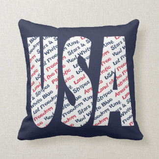 USA Patriotic Let Freedom Ring Stars and Stripes Cushion