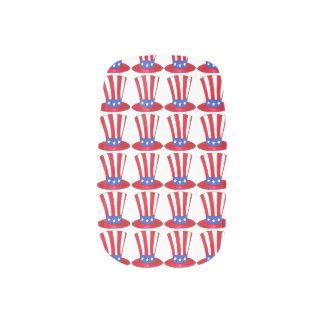 USA Patriotic Love Uncle Sam American Flag Nails Minx Nail Art