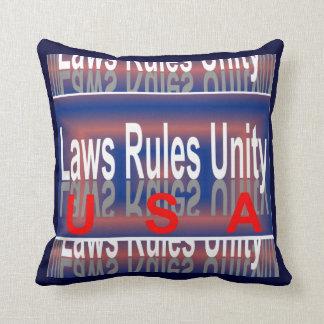 USA Patriotic Pillow -Home Decor- Red/White/Blue