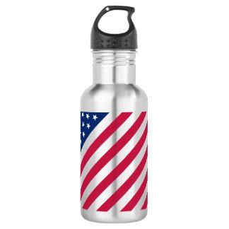 USA Patriotic Red Blue Stars Stripes Water Bottle 532 Ml Water Bottle