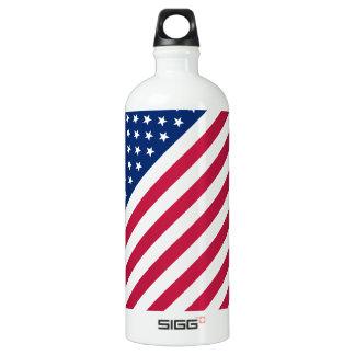 USA Patriotic Red Blue Stars Stripes Water Bottle SIGG Traveller 1.0L Water Bottle