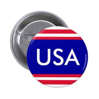 USA Patriotic Red White and Blue Button July 4th Pinback Button