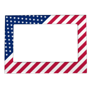 USA Patriotic Stars Stripes Magnetic Photo Frame