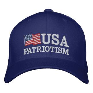 USA Patriotism Flag RB Embroidered Hat