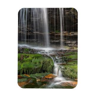 USA, Pennsylvania, Benton. Delicate Waterfall Rectangular Photo Magnet