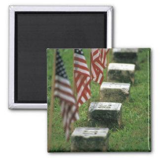 USA, Pennsylvania, Gettysburg. Civil war Square Magnet