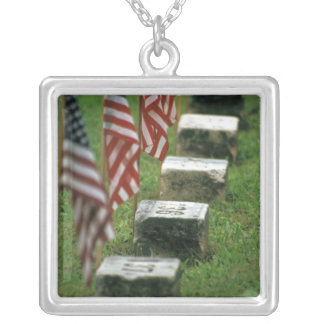 USA, Pennsylvania, Gettysburg. Civil war Square Pendant Necklace